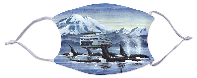 Face Mask - Ferry and Whales 241