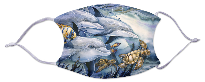 Face Mask - Dolphins