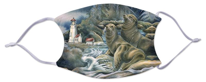 Face Mask - Lighthouse & Sea Lions
