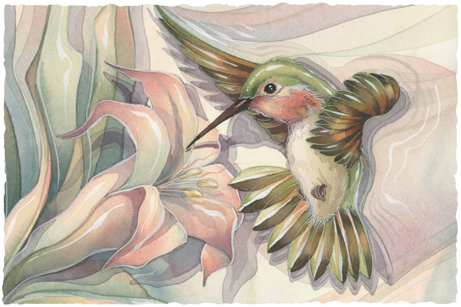 Hummingbirds / Spread Your Wings... - Art Card