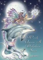 Mermaids & Sea Faeries / Wish Upon A Dolphin Star - Magnet