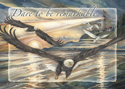 Eagles (Bald) / Dare to be Remarkable - Magnet