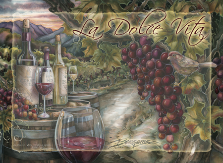 Vineyard / La Dolce Vita - Magnet