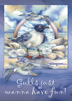 Gulls Just Wanna Have Fun - Magnet