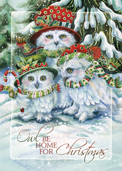 OWL Be Home for Christmas - Magnet