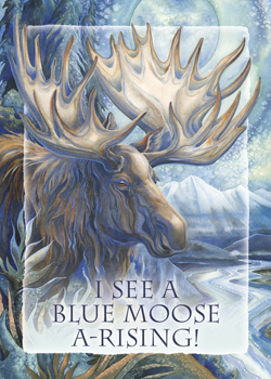 Moose / I See a Blue Moose A-Rising - Magnet