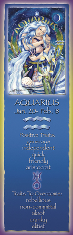 Zodiac Series / Aquarius - Bookmark