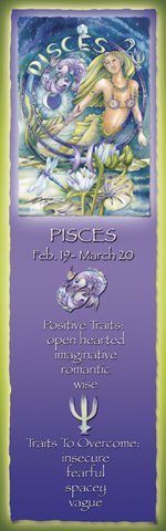 Zodiac Series / Pisces - Bookmark