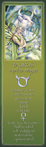Zodiac Series / Taurus - Bookmark