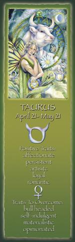 Zodiac Series / Taurus - Bookmark