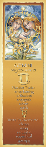Zodiac Series / Gemini - Bookmark