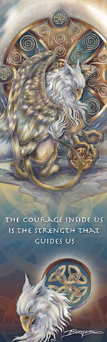 Mythological Creatures (Gryphon) / The Courage Inside Us... - Bookmark