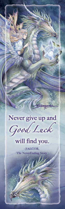 Never Give Up and Good Luck Will Find You - Bookmark