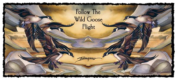 Geese / Follow The Wild Goose Flight - Mug