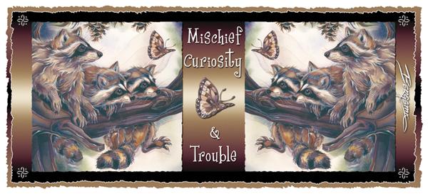Raccoons / Mischief, Curiosity & Trouble - Mug