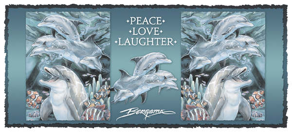 Peace, Love & Laughter - Mug