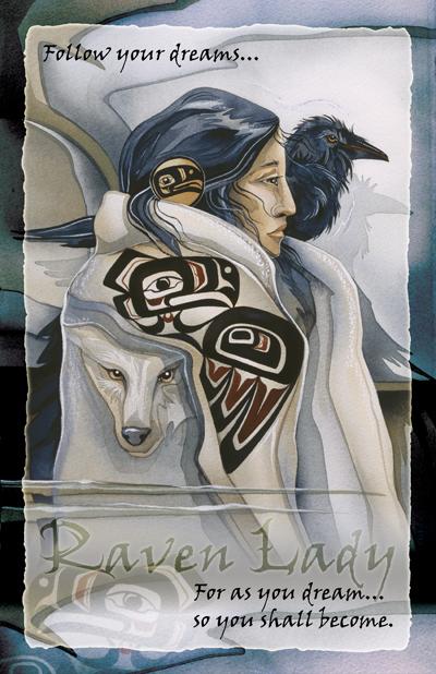 Ravens / Raven Lady - 11 x 17 inch Poster