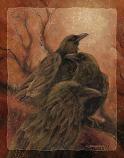 Odin's Ravens - 11 x 14 in Poster