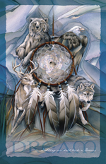 Multiple Animal Types / Dreamcatcher - 11 x 14 inch Poster