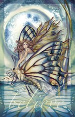 Faeries / Chrysalis... Who Knows What Magic Tomorrow May Bring - 11 x 14 inch Poster