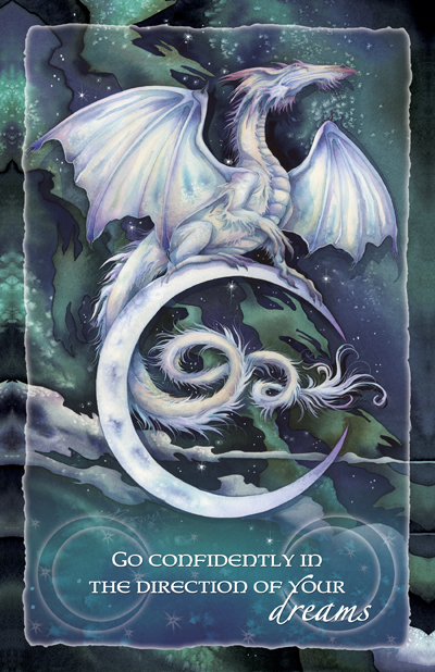 Mythological Creatures (Dragons) / Touch The Moon, Reach The Stars - 11 x 14 inch Poster