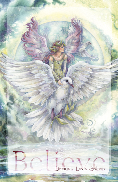 Faeries / Dream... Love... Believe - 11 x 14 inch Poster