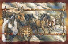 Horses / Companions Of The Wind - 11 x 14 in Poster