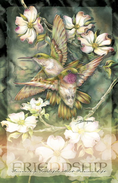 Hummingbirds / Friendship... - 11 x 17 in Poster