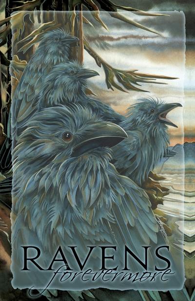 Ravens / Ravens... Forevermore - 11 x 14 inch Poster