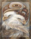 Eagle Totem - 11 x 14 in Poster