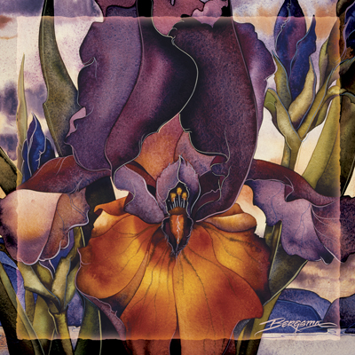 Irises / Fire Over The Islands - Tile