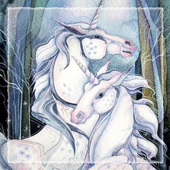 Mythological Creatures (Unicorns) / Believe - Tile