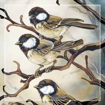Chickadees / Out On A Limb - Tile