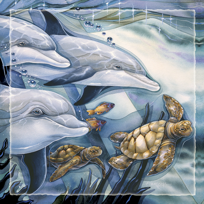 Dolphins / Honor Diversity - Tile