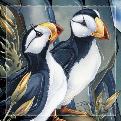 Puffins / Two Beaks, Or Not Two Beaks - Tile