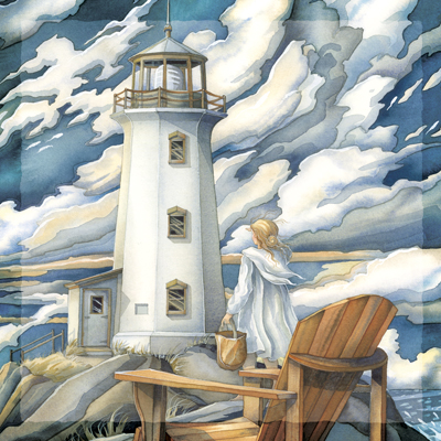 Lighthouses / Let Love Be The Light That Leads You Home - Tile