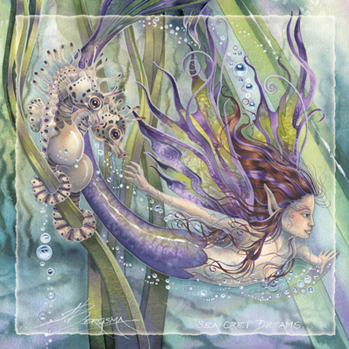 Mermaids & Sea Faeries / Sea-cret Dreams - Tile