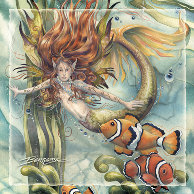 Mermaids & Sea Faeries / Let Dreams Live - Tile
