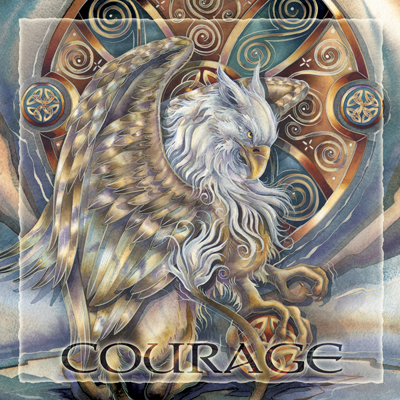 Mythological Creatures (Gryphon) / The Courage Inside Us... - Tile