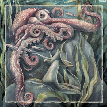 Octopus / Sea Life Differently - Tile