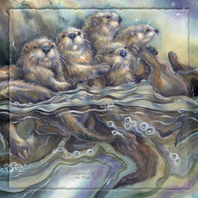 Otters / No Matter Who Or Where We Are... - Tile