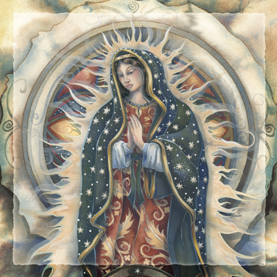 Spiritual Icon Series / Our Lady Of Guadalupe - Tile
