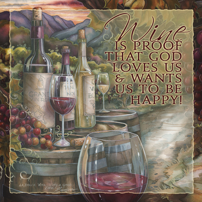Vineyard / Wine Is Proof - Tile