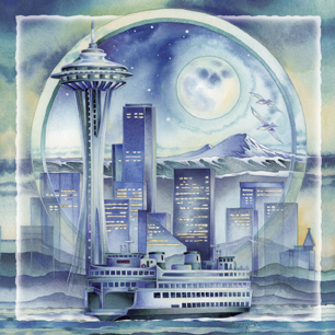 Cityscape / Seattle... City Of Dreams - Tile