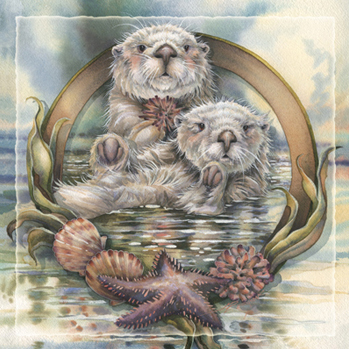 Otters / Stars Of The Sea - Tile