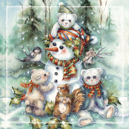 Bear Holidays - Tile