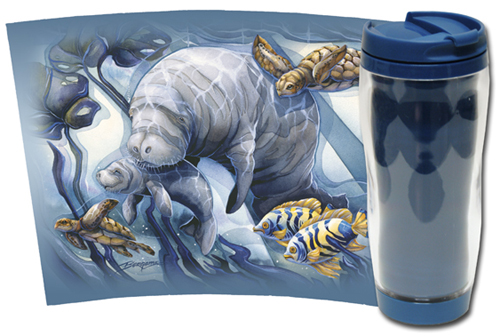 Manatees / Home Sea Home - Travel Mug