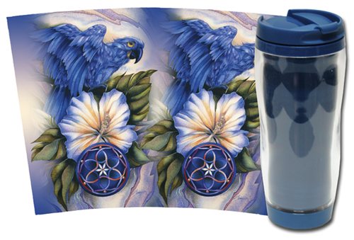 Parrots / Brilliant Destiny - Travel Mug
