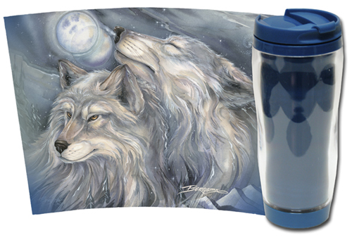 Wolves / Love Is The Beginning Of All Things Beautiful - Travel Mug