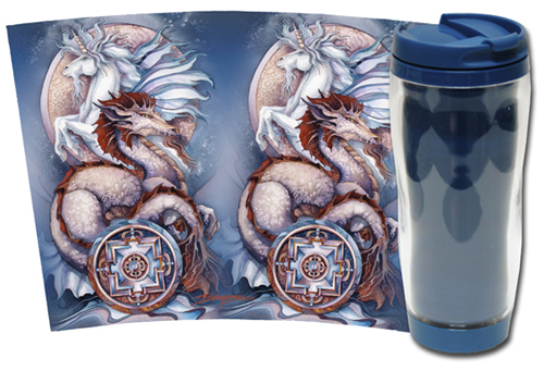 Mythological Creatures (Multiple) / Elemental Magic - Travel Mug